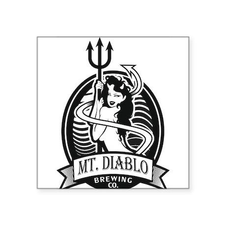 "Diablo Beer Square Sticker 3"" x 3"""