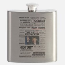 Obama: The 44th President Collage Flask