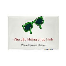 No Autographs Please (Vietnamese) Rectangle Magnet