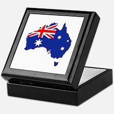 Australia map flag Keepsake Box