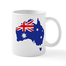 Australia map flag Mug