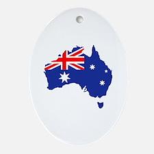 Australia map flag Ornament (Oval)