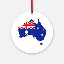 Australia map flag Ornament (Round)