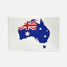 Australia map flag Rectangle Magnet