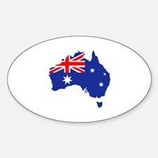 Australia map flag Sticker (Oval)