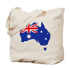 Australia map flag Tote Bag