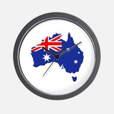Australia map flag Wall Clock
