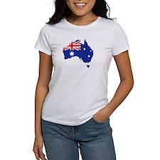 Australia map flag Tee