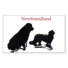 Newfoundland Dogs Decal