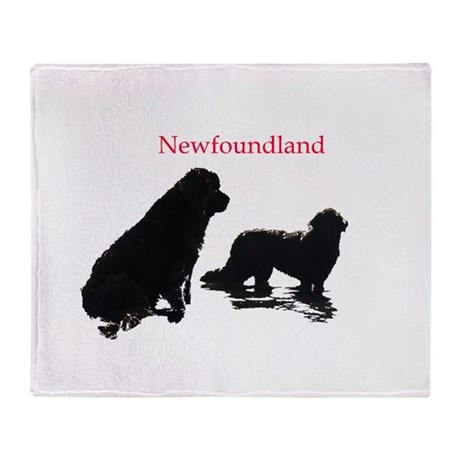 Newfoundland Dogs Throw Blanket