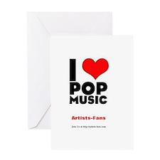 I love Pop Music Greeting Card