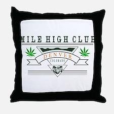 Denver Colorado Marijuana Throw Pillow