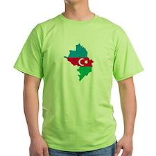 Azerbaijan map flag T-Shirt
