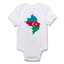 Azerbaijan map flag Infant Bodysuit