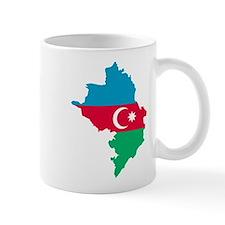 Azerbaijan map flag Mug