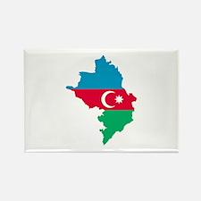 Azerbaijan map flag Rectangle Magnet