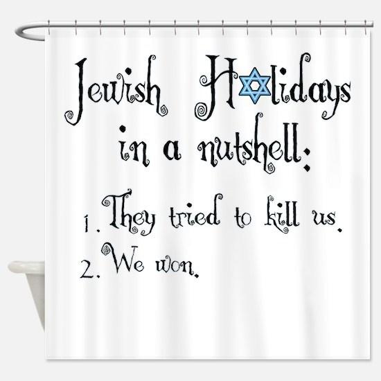 Jewish Holidays Shower Curtain