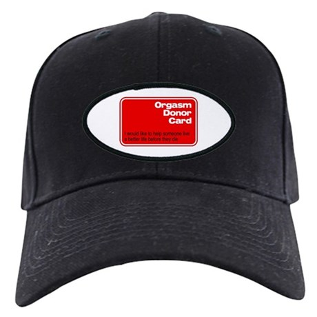Orgasm Donor Card Black Cap
