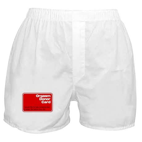 Orgasm Donor Card Boxer Shorts