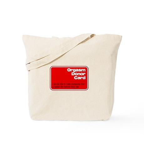 Orgasm Donor Card Tote Bag