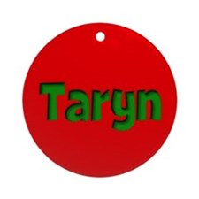 Taryn Red and Green Ornament (Round)