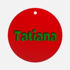 Tatiana Red and Green Ornament (Round)
