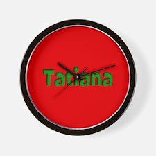 Tatiana Red and Green Wall Clock