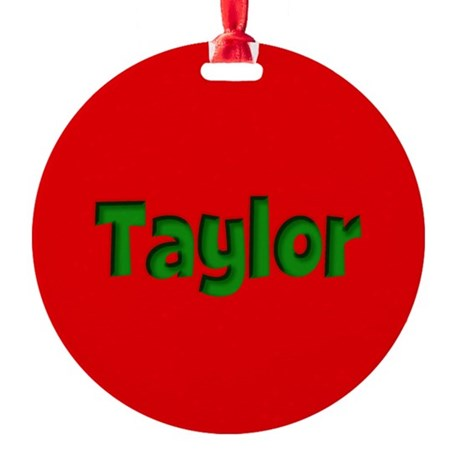 Taylor Red and Green Round Ornament