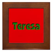 Teresa Red and Green Framed Tile