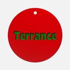 Terrance Red and Green Ornament (Round)