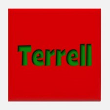 Terrell Red and Green Tile Coaster