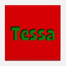 Tessa Red and Green Tile Coaster
