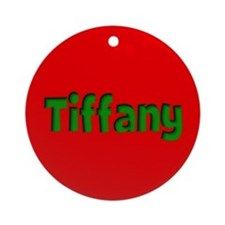 Tiffany Red and Green Ornament (Round)