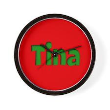 Tina Red and Green Wall Clock