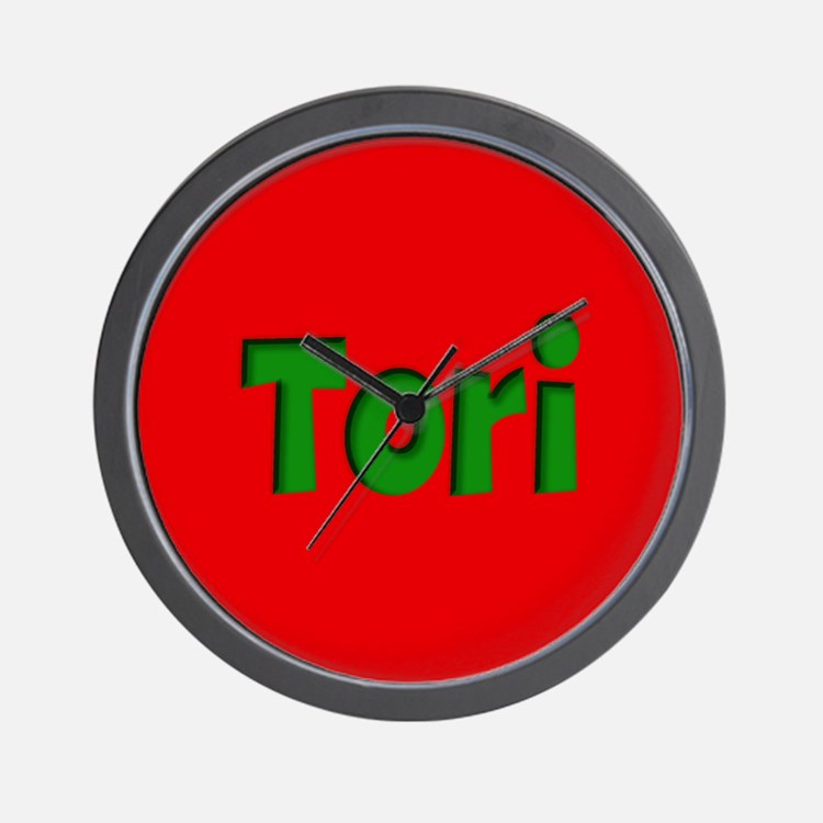 Tori Red and Green Wall Clock