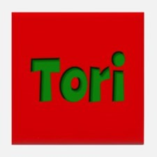 Tori Red and Green Tile Coaster