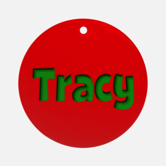 Tracy Red and Green Ornament (Round)