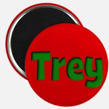 Trey Red and Green Magnet