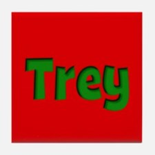 Trey Red and Green Tile Coaster