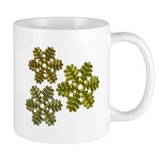 Snowflakes Metallic 3D Design Mug