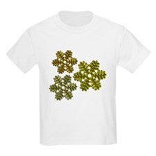 Snowflakes Metallic 3D Design T-Shirt