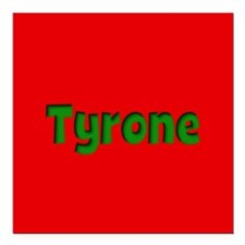"Tyrone Red and Green Square Car Magnet 3"" x 3"""