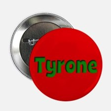 """Tyrone Red and Green 2.25"""" Button"""