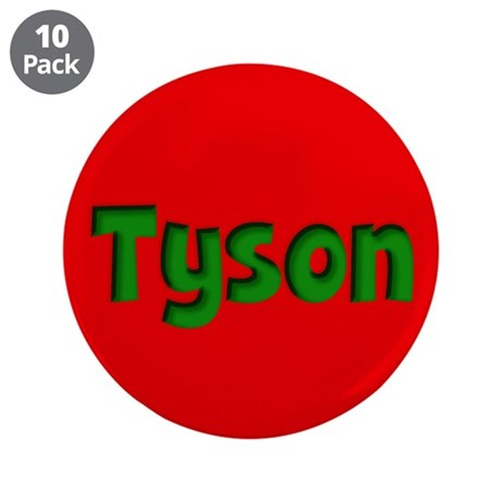 """Tyson Red and Green 3.5"""" Button (10 pack)"""