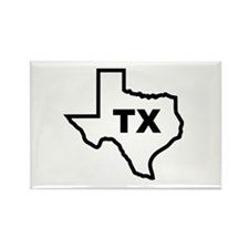 TX - Texas Rectangle Magnet