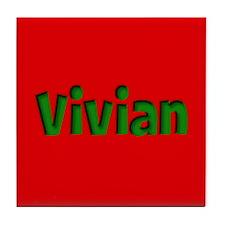 Vivian Red and Green Tile Coaster