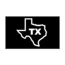 TX - Texas Rectangle Car Magnet