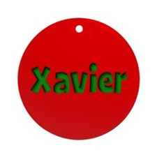 Xavier Red and Green Ornament (Round)