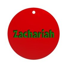 Zachariah Red and Green Ornament (Round)