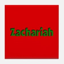 Zachariah Red and Green Tile Coaster